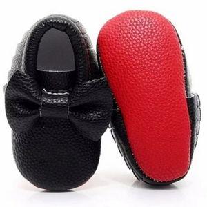 Red sole baby shoes